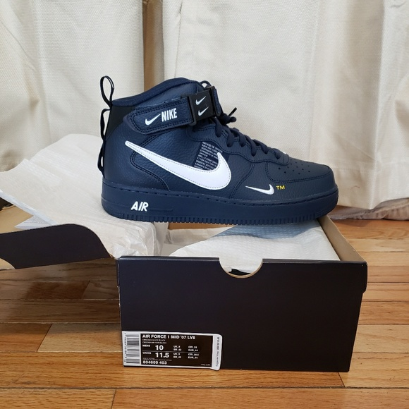 Nike Air Force 1 Mid Utility Navy White |